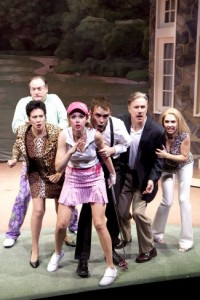 The Cast of Ken Ludwig's A Fox on the Fairway. Photo by Scott Suchman.