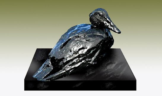 """Oil Spill Duck Sculpture,"" Donald Gialanella, California"