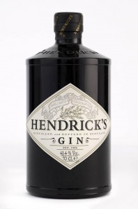 Scotland's Hendrick's Gin is crafted with rose and cucumber in the botanical blend.