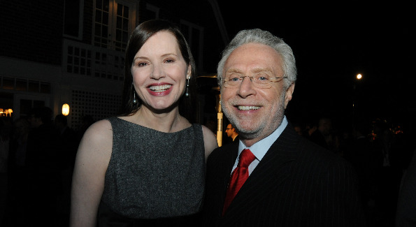 Wolf Blitzer and Geena Davis