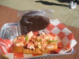 A succulent lobster roll and whopee pie from Redhook Lobster Pound.