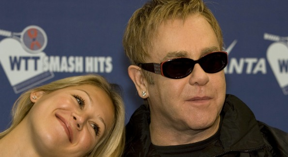 Anna Kournikova and Elton John.  Photo Courtesy of CameraWorkUSA.