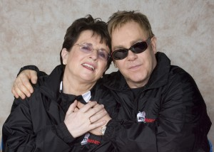 Billie Jean King and Elton John. Photo by CameraWork USA.