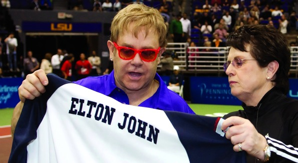 Sir Elton John draws attention to HIV/AIDS in the District with his World Team Tennis Smash Hits.