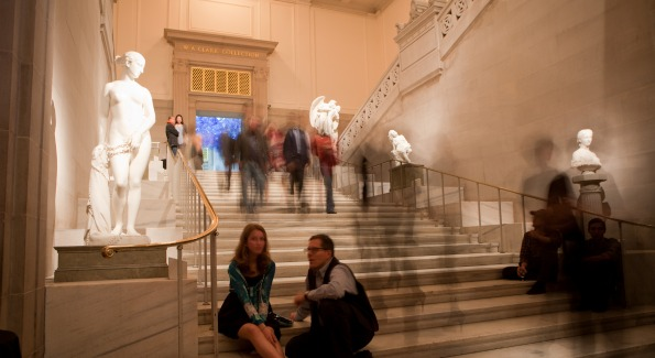 Guests enjoy kicking off FotoWeek DC at the Corcoran Gallery of Art.