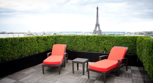 Breathtaking views from the Terrace Eiffel Suite.