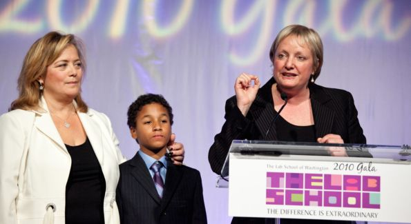 Elizabeth Birch, Hilary Rosen (Gala co-chairs) and son. Image courtesy of Dennis Kan.