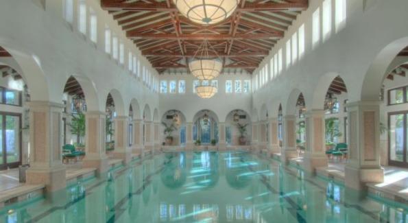 The pool at The Spa at Sea Island. Photo Courtesy of The Cloister at Sea Island.