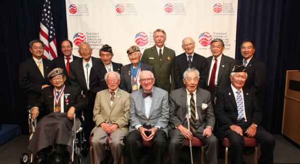 Veterans at the 10th Anniversary of the Dedication of the Japanese American Memorial to Patriotism During World War II. Photo courtesy of joeshymanski.com.