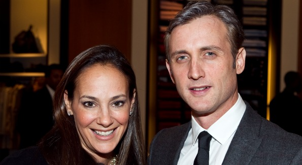 Dan Abrams and GQ Executive Director of Fashion & Retail, Lisa Fields. Photo Courtesy of Conde Nast.