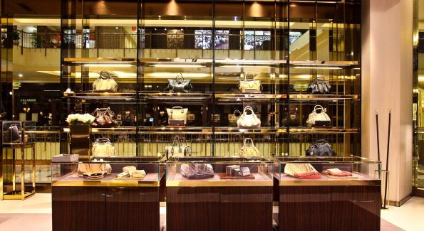 The luxurious interior of Gucci's Tyson Galleria store. Photo courtesy of Gucci.