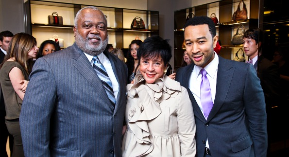 Artist John Legend with guests at the opening of Gucci in Tyson's Galleria. Photo Courtesy of Gucci.