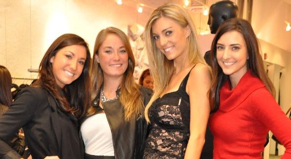 Sondra Ortegas, Heather Halsey, Krisztina Scherer, and Kate Michael strike a pose.