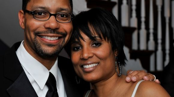 Dr. Harris and his wife of 16 years, Lisa.