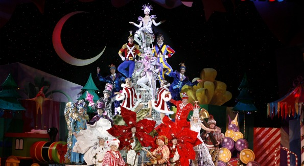 Ornaments come to life in Cirque Dreams Holidaze. Photo Courtesy of Cirque Productions.