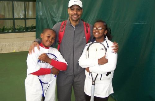An avid tennis enthusiast, Dr. Harris supports the 12th Annual Heart to Hart Tennis Experience at the Southeast Tennis and Learning Center.