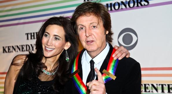 Nancy Shevell, Paul McCartney. Kennedy Center Honors Red Carpet. Photo by Tony Powell.