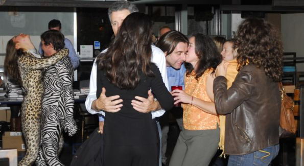 Book launch guests dance the night away. Image courtesy of Kyle Samperton.