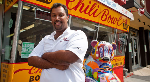 Ben's Chili Bowl owner Nizam Ali.