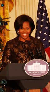 A sparkling Michelle Obama at the White House.