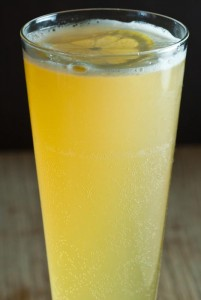 Serve the beer-based Shandy to guests who don't drink sparkling wine.