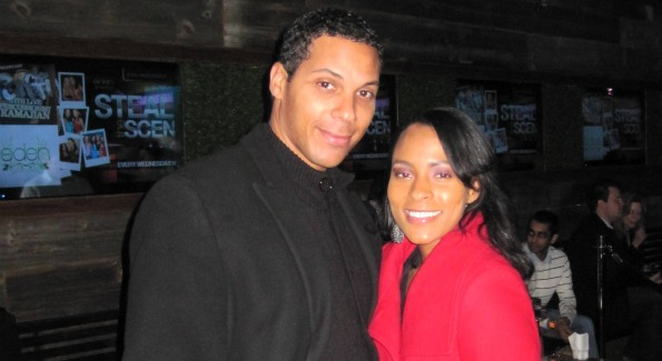 Mayor Vincent Gray's son Carlos Gray and WPGC's Danella Love. Image by Karllito Antonio.