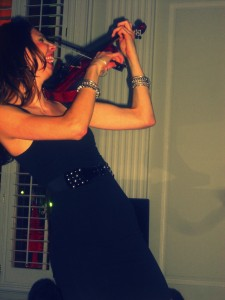Violinist at the W Hotel.