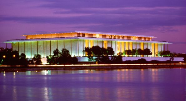 A view of The Kennedy Center from Georgetown Harbor. Image by Carol Pratt.