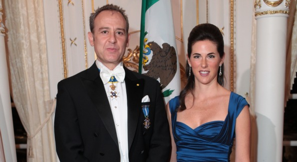 Mexican Amb. Arturo Sarukhan and Veronica Valencia.
