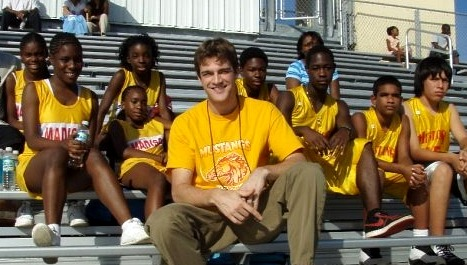 Steve with students in Miami, Florida