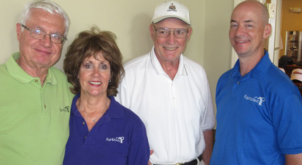 Martin Marta, Suzy Yehl Marta, Michael Horne and Tim Yehl at the Rainbows' Greater Washington Golf Classic, held June 1 at the Westfields Golf Club, Clifton, VA.  Fifty-eight golfers braved 100-degree heat for the fundraiser.