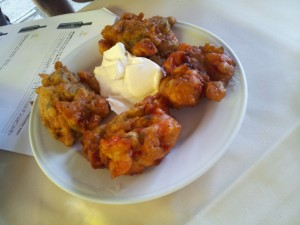 I loved Santorini tomato fritters with the island's zingy Assyrtiko, but Greek wines work with a variety of cuisines.