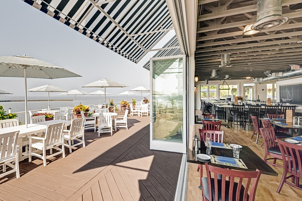James Landing Grille offers food and drink on the water.