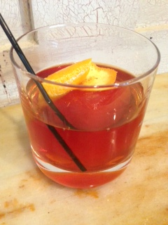 Jeff Faile's Il Palio cocktail at Casa Luca uses Campari-infused ice.