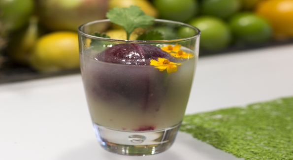 "The Corazon at Zaytinya combines Chinaco ""Verde"" Blanco Tequila with cilantro and toasted coriander, served over hibiscus ice. Photo courtesy of ThinkFoodGroup."
