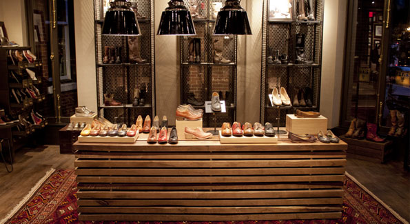 Frye's Georgetown flagship features many similar design elements as the company's Boston store, shown here. (Courtesy photo)