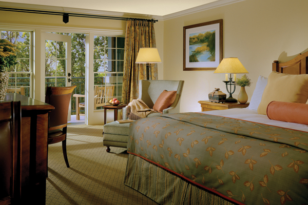 One of the resort's 57 well-appointed rooms. Photo courtesy of The Lodge at Woodloch.