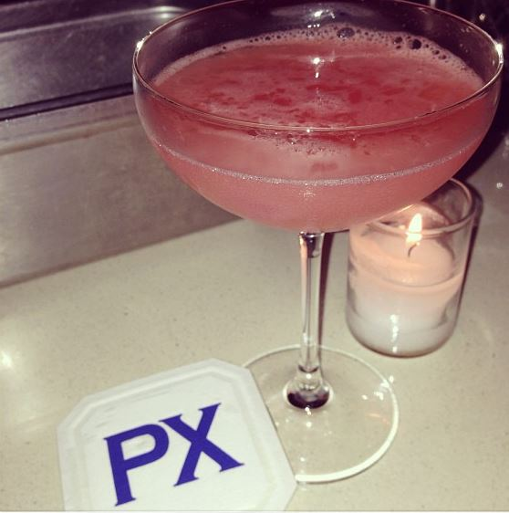 Summer in St. Leonard at PX, with tomato watermelon water, compressed melon, lemon and American Harvest Organic Spirit. Photo courtesy of Jennie Kuperstein.