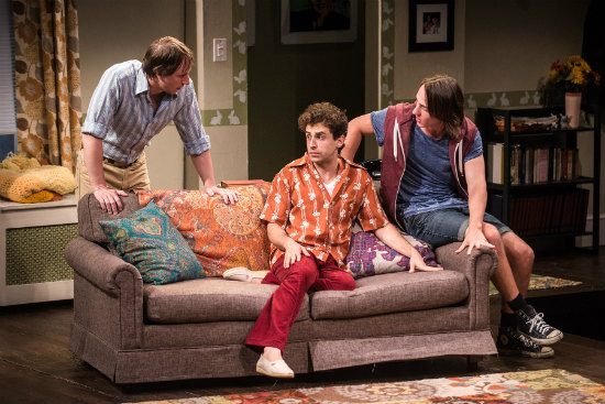 Todd Lawson (Ed), Brandon Uranowitz (Arnold), Michael Lee Brown (David). (Photo by Teddy Wolff)