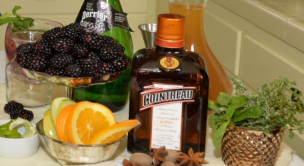 Ingredients including fresh berries, citrus, herbs and sparkling water allow you to mix up refreshing libations for your holiday cocktail party. Photo courtesy of Cointreau.