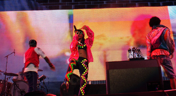 M.I.A. at Coachella (Photo by Rasmin)