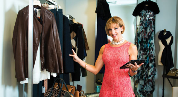 Katie Jaggers, a personal shopper with Saks Fifth Avenue's Fifth Avenue Club. (Photo by Joseph Allen)