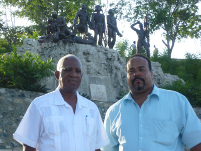 Mr. Hinton is joined by former Ambassador Fougy of Haiti in rebuilding efforts throughout the country. (Photo courtesy Jason Hinton)