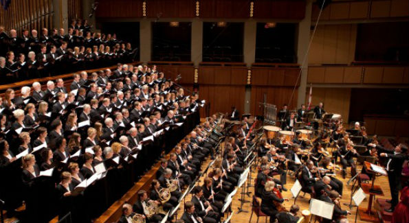 """The Washington Chorus performed a deeply moving """"War Requiem"""" last month in the Kennedy Center Concert Hall. (PHOTO CREDIT/Margot Schulman)"""