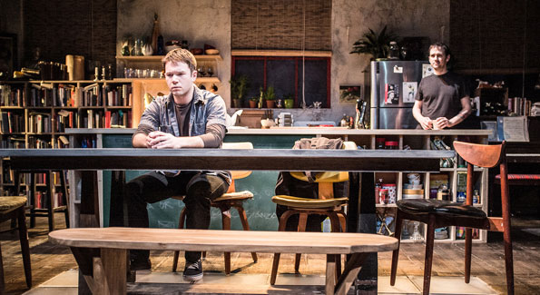 """James Caverly (Billy) and Richard Gallagher (Daniel) in """"Tribes."""" (Photo byTeddy Wolff)"""