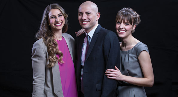 From left: Emily Tisch Sussman, Dan Costa and Hilary Wething (Photo by Tony Powell)