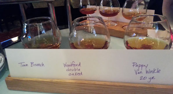 The flights at the Marriott Louisville are a great way to get schooled in Bourbon. (Photo courtesy Kelly Magyarics)