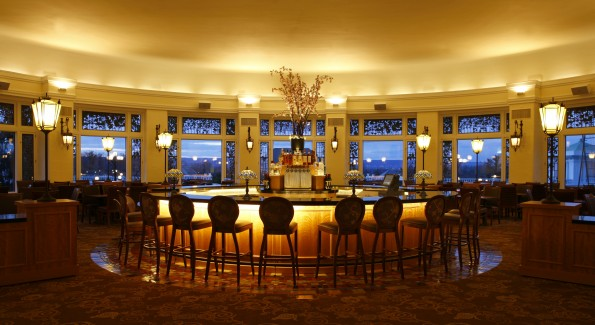 The circular bar is the hotel's best spot for a well-made cocktail. Photo courtesy of Hershey Entertainment & Resorts.