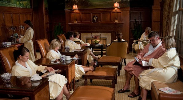 The Chocolate Spa's Quiet Room is a cozy spot to bliss out with a magazine and a warm cup of hot cocoa. Photo courtesy of Hershey Entertainment & Resorts.