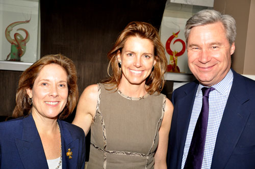 Helen duBois, Clara Bingham and Sen. Sheldon Whitehouse (File photo)